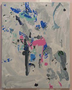 Material Evidence (Floor Rotation) Acrylic on canvas 80 x 100 cm